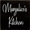 7x7 Black board with White text  Maryalice's Kitchen