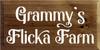 9x18 Walnut Stain board with White text Grammy's Flicka Farm