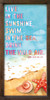 Live in the sunshine, swim in the sea, drink the wild air. - Ralph Waldo Emerson Framed Wooden Sign with beach graphic