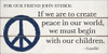 """12x24 White board with Black and Blue text Dedicated to our friend John Steber. """"If we are to create peace in our world, we must begin with our children.""""  Gandhi ."""