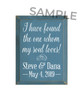 "Customized Wood Painted Signs - Add Any Text Personalized For You  SAMPLE 9x12"" Williamsburg board with White text"