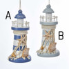 Wooden Hand Painted Lighthouse