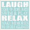 Framed Wood Sign - Laugh Soak Up Some Rays Swim & Play..- 24x24
