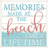 Framed Wood Sign - Memories Made At The Beach..- 24x24