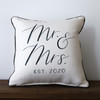Mr & Mrs with Established Year - Personalized Square Pillow 16 x 16