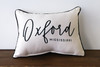 City and State Script Style - Personalized Pillow 12 x 20