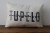Black and Gray City and State Watercolor Style - Personalized Pillow 12 x 20