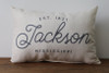 Established Year with City, State - Personalized Pillow 12 x 20