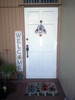 Customer Photo Outdoor Welcome Sign for Porch - Birdhouse - Vertical Porch Board 8x47 White With Black Lettering