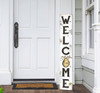 Outdoor Welcome Sign for Porch - Beehive - Vertical Porch Board 8x47 Spring Bee Decor