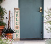 Outdoor Welcome Sign for Porch - Southwest Colors And Style - Vertical Porch Board 8x47