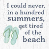 I Could Never, In A Hundred Summers Get Tired Of The Beach Wooden Sign 6x6