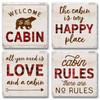 Tile Coasters - Cabin Living - Set of 4