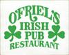 15x19 White board with Kelly text O'Friel's Irish Pub Restaurant