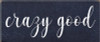 5x12 Navy Blue board with White text  crazy good