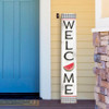 Outdoor Welcome Sign for Porch - Watermelon - Vertical Porch Board 8x47