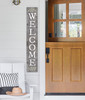 Outdoor Welcome Sign for Porch - Gray with White - Vertical Porch Board 8x47