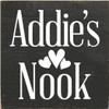 7x7 Charcoal board with White text  Addie's Nook