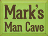9x12 Apple board with Brown text  Mark's Man Cave