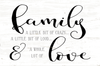 Family A Little Bit Of Crazy... And A Whole Lot Of Love - Mini Block Wooden Sign