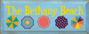 7x18 Light Blue board with Sunflower, Turquoise, Coral, Tangerine, Emerald, Elderberry text  The Bethany Beach