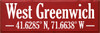 12x36 Red board with White text  West Greenwich  41.6285° N, 71.6638° W