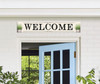 Outdoor Sign - Welcome with Potted Plants - 8x47