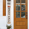 Outdoor Welcome Sign for Porch - Happy Fall with Truck and Pumpkins - Vertical Porch Board 8x47