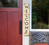 Outdoor Welcome Sign for Porch - Mushrooms - Vertical Porch Board 8x47