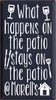 14x25 Navy Blue board with White text  What happens on the patio stays on the patio @ Morell's