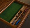 Center organizer drawer Mini Roll Top Desk 32 inch Solid Oak Wood 32W x 24D x 44H Small Desk