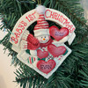 Baby's First Christmas with Snowman Ornament 4in.