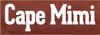 3.5x10 Burgundy board White text  Cape Mimi
