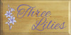 9x18 Butternut Stain board with Purple and Lavender text  Three Lilies