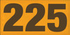 12x24 Tangerine board with Brown text  225