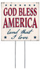 God Bless America Land That I Love - Square Outdoor Standing Lawn Sign 8x8
