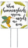 When Hummingbirds Appear, Angels Are Near - Square Outdoor Standing Lawn Sign 8x8