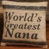 World's Greatest Nana - Small Burlap Pillow
