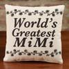 World's Greatest Mimi - Small Canvas Pillow