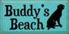 9x18 Aqua board with Black text  Buddy's Beach
