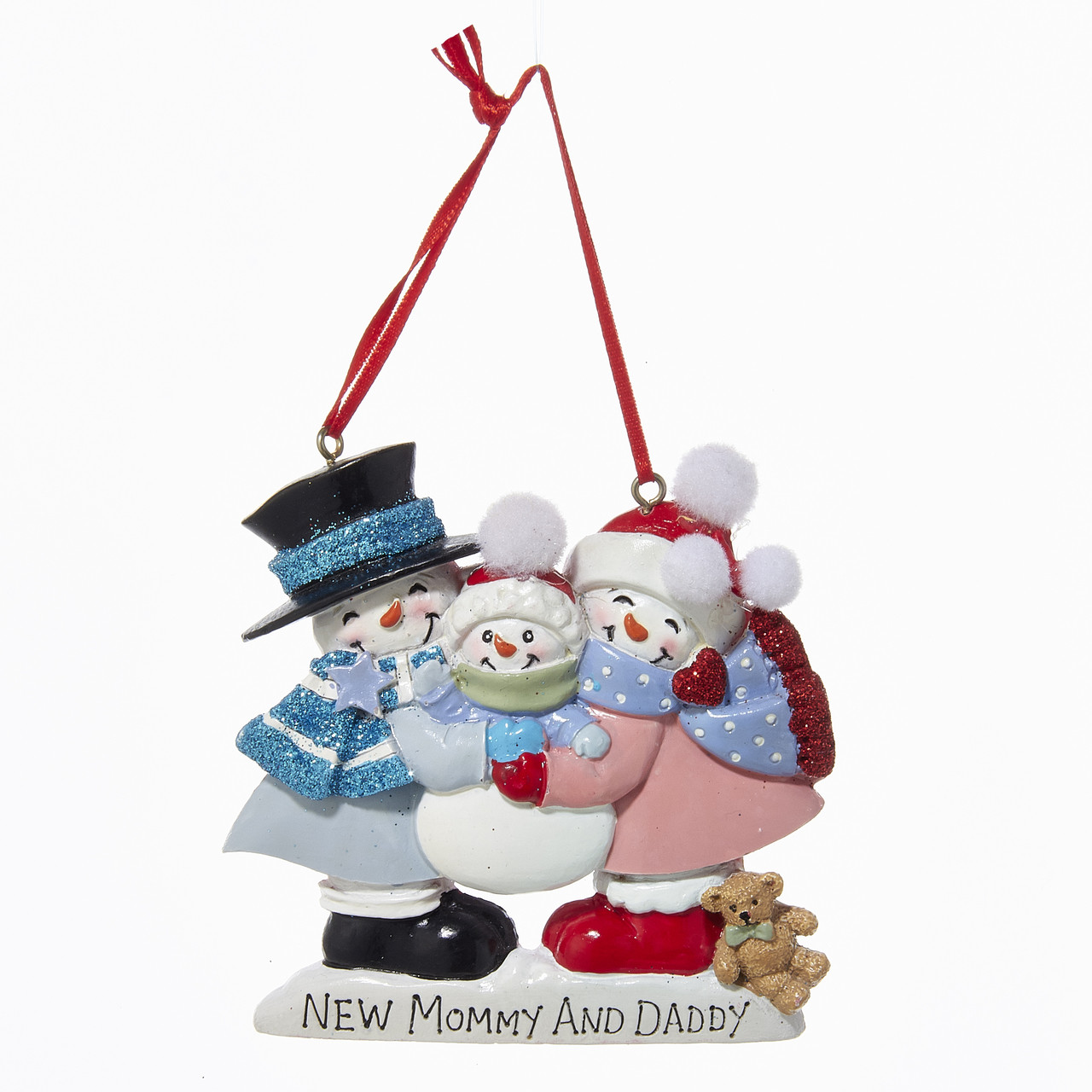 New Mommy And Daddy Personalized Ornament - Country Marketplace