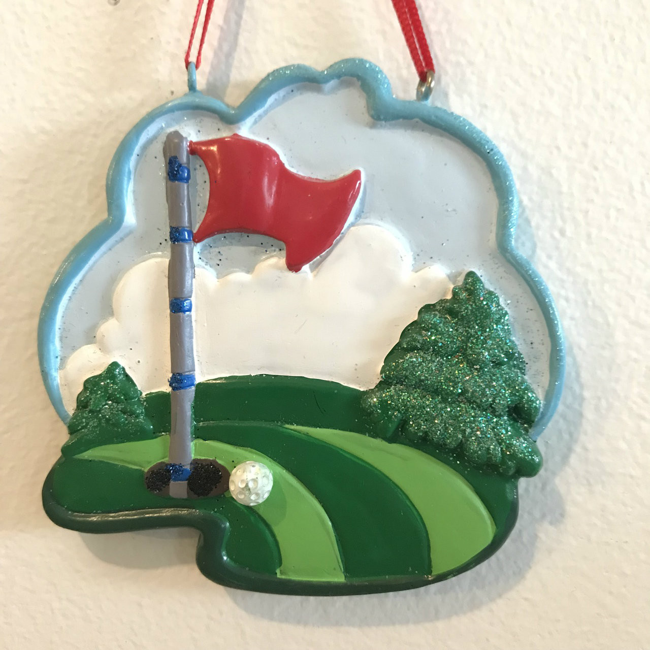Golf Course Personalized Greenery Ornament 322.3228