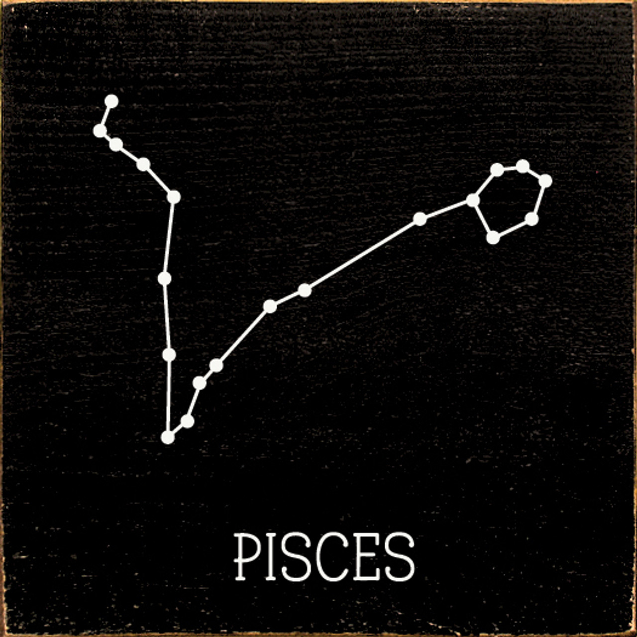 Wood Sign - Pisces Constellation Zodiac 7x7 - Country ...