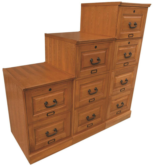 Solid Oak File Cabinets Warm Harvest Oak Stain