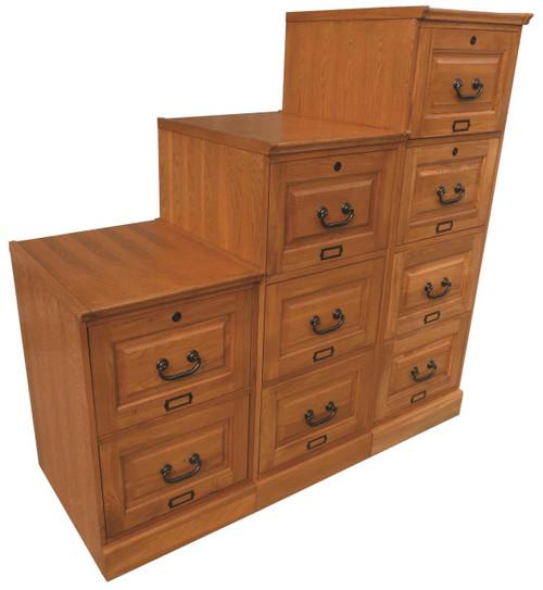 Oak Four Drawer File Solid Wood File Cabinet