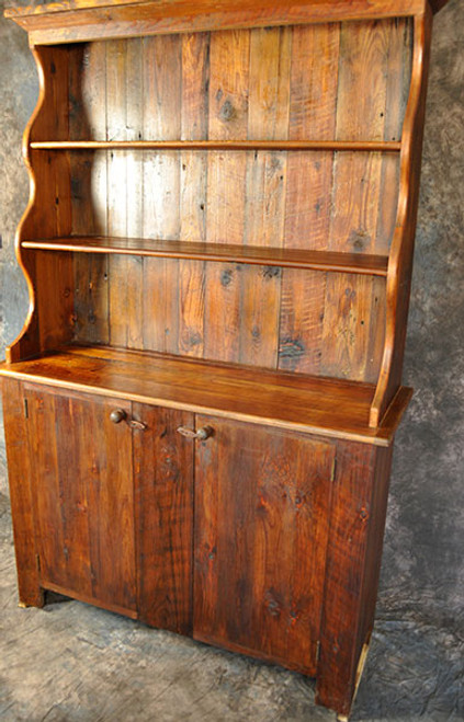 Rustic Reclaimed Wood Pewter Hutch