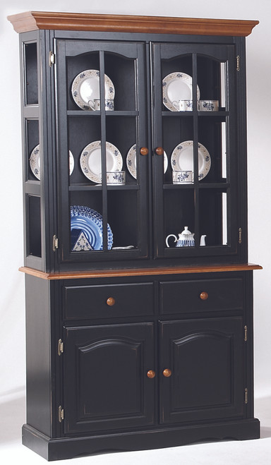 40in. Traditional Hutch Black and Cherry