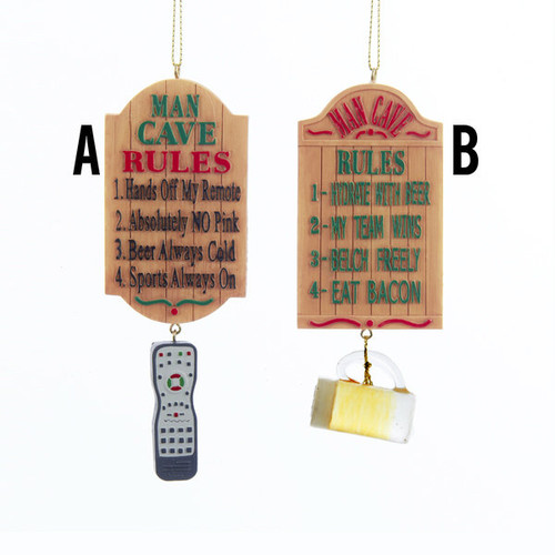 Man Cave Sign Ornaments
