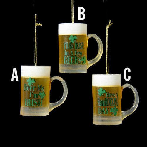 Irish Beer Mug Ornaments