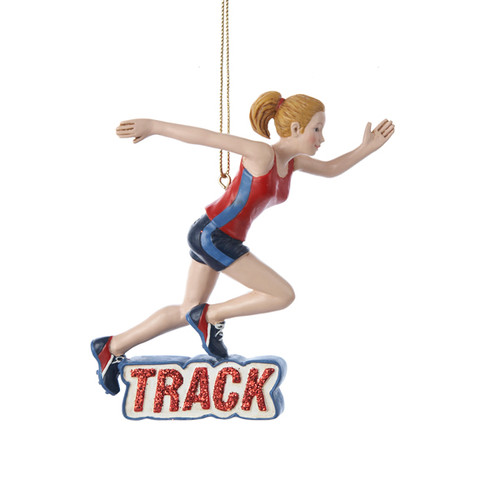 Track Girl Personalized Ornament 4 Inch sport ornaments ornaments for sports players athlete ornament ornament for athlete gift for athlete track  track ornament